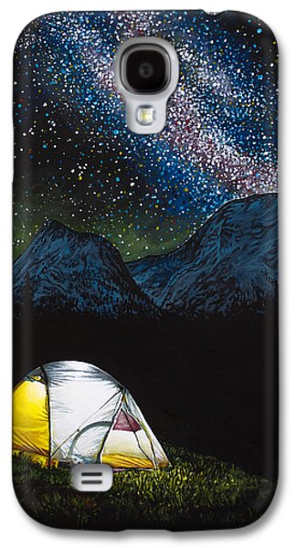 Night Lamp Paintings Galaxy S4 Cases - Solitude Galaxy S4 Case by Aaron Spong