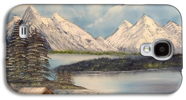 Bob Ross Paintings Galaxy S4 Cases - Solitude at the Lake Galaxy S4 Case by Joyce Krenson
