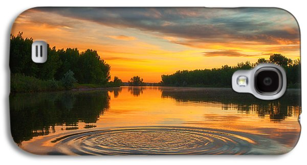 Sunset Greeting Cards Galaxy S4 Cases - Solstice Ripples Galaxy S4 Case by Darren  White