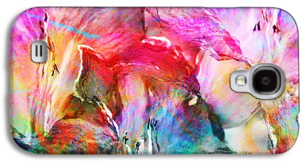 Abstract Digital Art Galaxy S4 Cases - Somebodys Smiling - Abstract Art Galaxy S4 Case by Jaison Cianelli