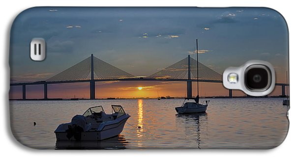Sunshine Skyway Bridge Galaxy S4 Cases - Something About a Sunrise Galaxy S4 Case by Bill Cannon