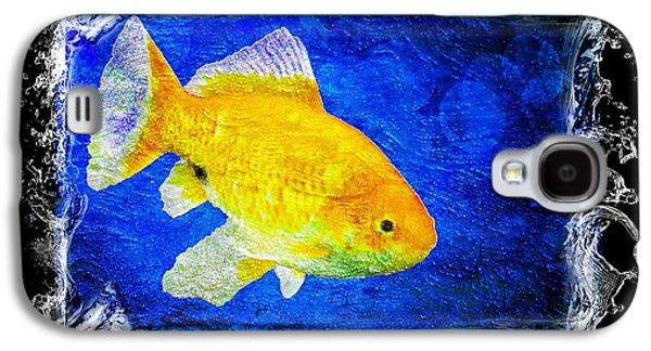 Goldfish Mixed Media Galaxy S4 Cases - Something Fishy Galaxy S4 Case by Aaron Berg