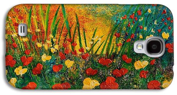 Sunset Abstract Galaxy S4 Cases - Something I Love Galaxy S4 Case by Teresa Wegrzyn