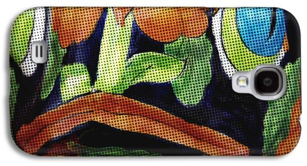 Ceramic Mixed Media Galaxy S4 Cases - Somethings Fishey Galaxy S4 Case by Rosalie Scanlon