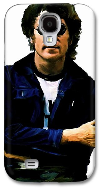 Beatles Drawings Galaxy S4 Cases - Sometime In NYC III John Lennon Galaxy S4 Case by Iconic Images Art Gallery David Pucciarelli