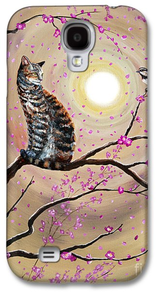 Gray Tabby Galaxy S4 Cases - Song of the Chickadee Galaxy S4 Case by Laura Iverson