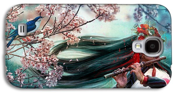 Cherry Blossoms Galaxy S4 Cases - Songbird Galaxy S4 Case by Aimee Stewart