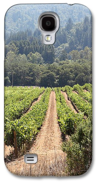 Pastoral Vineyards Galaxy S4 Cases - Sonoma Vineyards In The Sonoma California Wine Country 5D24515 vertical Galaxy S4 Case by Wingsdomain Art and Photography