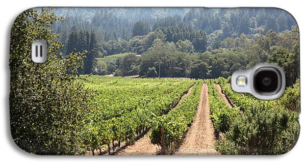 Pastoral Vineyards Galaxy S4 Cases - Sonoma Vineyards In The Sonoma California Wine Country 5D24515 Galaxy S4 Case by Wingsdomain Art and Photography