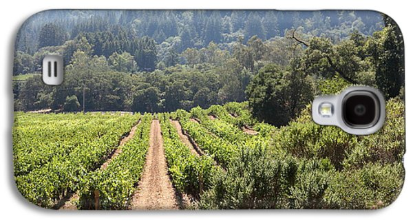 Pastoral Vineyard Photographs Galaxy S4 Cases - Sonoma Vineyards In The Sonoma California Wine Country 5D24518 Galaxy S4 Case by Wingsdomain Art and Photography