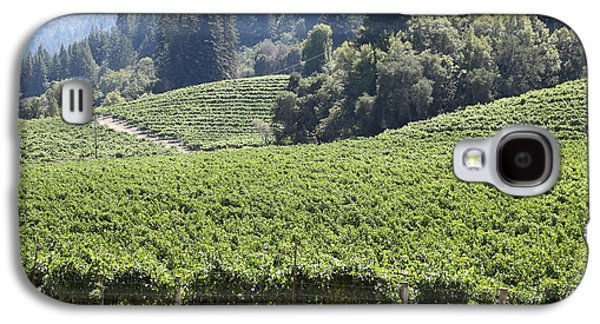Pastoral Vineyard Photographs Galaxy S4 Cases - Sonoma Vineyards In The Sonoma California Wine Country 5D24539 Galaxy S4 Case by Wingsdomain Art and Photography
