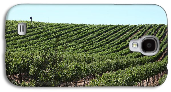 Pastoral Vineyard Photographs Galaxy S4 Cases - Sonoma Vineyards In The Sonoma California Wine Country 5D24588 Galaxy S4 Case by Wingsdomain Art and Photography