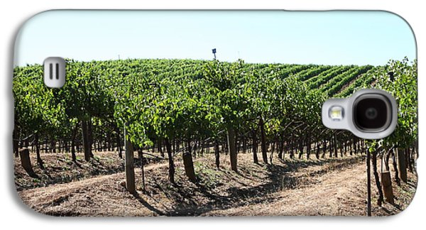 Pastoral Vineyard Photographs Galaxy S4 Cases - Sonoma Vineyards In The Sonoma California Wine Country 5D24598 Galaxy S4 Case by Wingsdomain Art and Photography