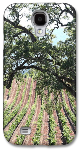 Pastoral Vineyard Photographs Galaxy S4 Cases - Sonoma Vineyards In The Sonoma California Wine Country 5D24619 vertical Galaxy S4 Case by Wingsdomain Art and Photography