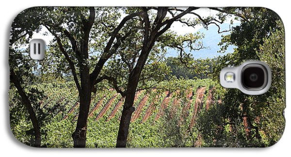 Pastoral Vineyard Photographs Galaxy S4 Cases - Sonoma Vineyards In The Sonoma California Wine Country 5D24622 Galaxy S4 Case by Wingsdomain Art and Photography
