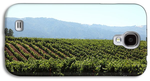 Pastoral Vineyard Photographs Galaxy S4 Cases - Sonoma Vineyards In The Sonoma California Wine Country 5D24623 Galaxy S4 Case by Wingsdomain Art and Photography