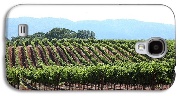 Pastoral Vineyard Photographs Galaxy S4 Cases - Sonoma Vineyards In The Sonoma California Wine Country 5D24625 Galaxy S4 Case by Wingsdomain Art and Photography