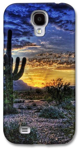 Sun Rays Galaxy S4 Cases - Sonoran Sunrise  Galaxy S4 Case by Saija  Lehtonen