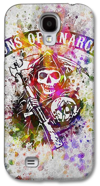 Grunge Galaxy S4 Cases - Sons of Anarchy in Color Galaxy S4 Case by Aged Pixel