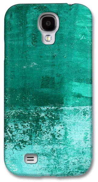 Monica Galaxy S4 Cases - Soothing Sea - Abstract painting Galaxy S4 Case by Linda Woods