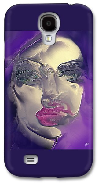 Colorful Abstract Galaxy S4 Cases - Sophia Loren By Quim Abella Galaxy S4 Case by Joaquin Abella