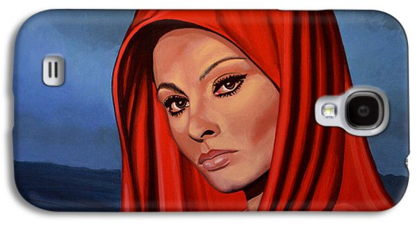 Symbol Paintings Galaxy S4 Cases - Sophia Loren Galaxy S4 Case by Paul  Meijering