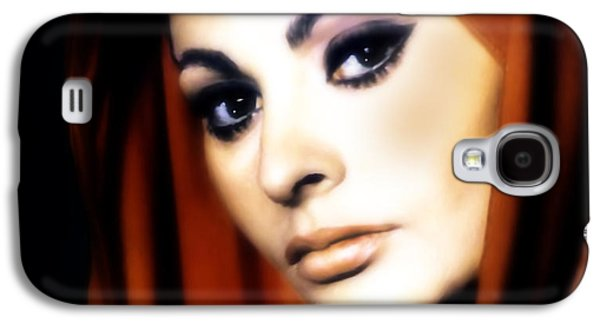Youthful Galaxy S4 Cases - Sophia Loren Galaxy S4 Case by Georgiana Romanovna
