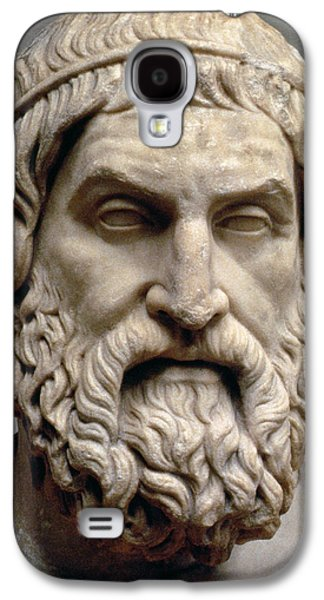 Statue Portrait Galaxy S4 Cases - Sophocles Galaxy S4 Case by Greek School