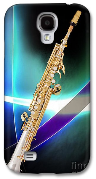 Soprano Galaxy S4 Cases - Soprano Saxophone Music Photograph in Color 3338.02 Galaxy S4 Case by M K  Miller