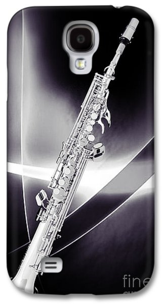 Soprano Galaxy S4 Cases - Soprano Saxophone Music Photograph in Sepia 3338.01 Galaxy S4 Case by M K  Miller