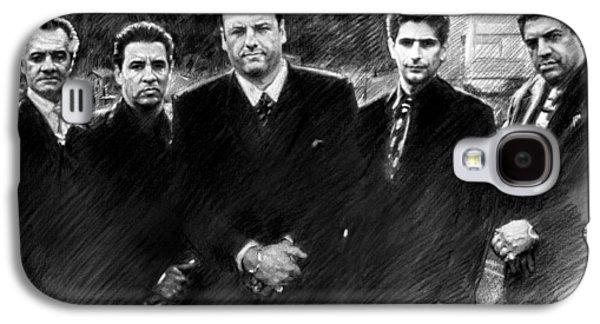 Soprano Galaxy S4 Cases - Sopranos James Gandolfini Galaxy S4 Case by Viola El