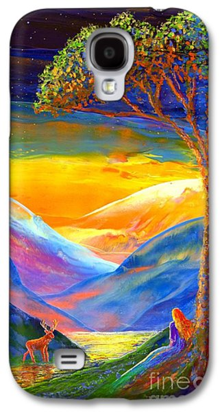 Surreal Landscape Galaxy S4 Cases - Soul Contact Galaxy S4 Case by Jane Small