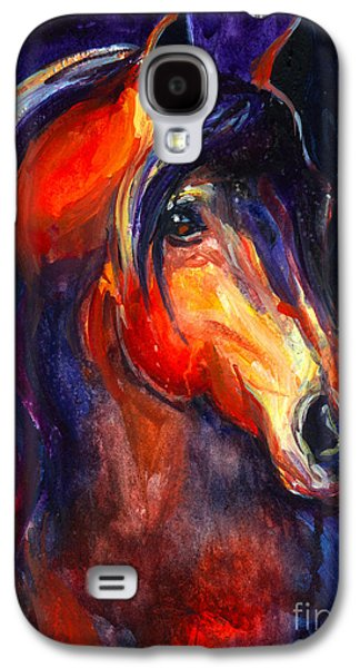 Texas Artist Galaxy S4 Cases - Soulful Horse painting Galaxy S4 Case by Svetlana Novikova