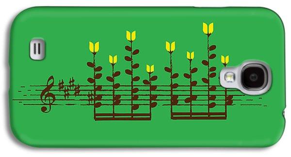 Flower Blooms Galaxy S4 Cases - Sound Garden Galaxy S4 Case by Budi Kwan