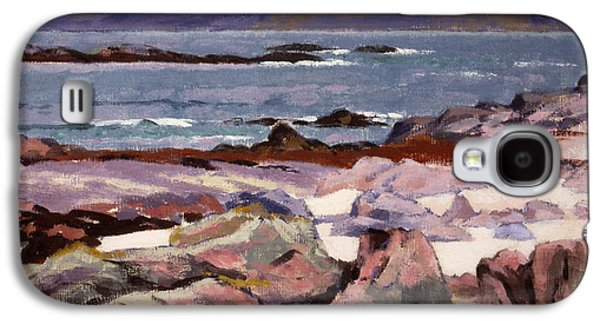 Person Galaxy S4 Cases - Sound of Iona  the Burg from the north shore Galaxy S4 Case by Francis Campbell Boileau Cadell