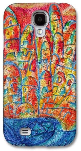 Jerusalem Paintings Galaxy S4 Cases - Sound of Shofar Galaxy S4 Case by Leon Zernitsky