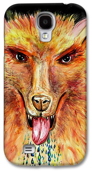 Dog Close-up Paintings Galaxy S4 Cases - SoundHound Galaxy S4 Case by Daniel Janda