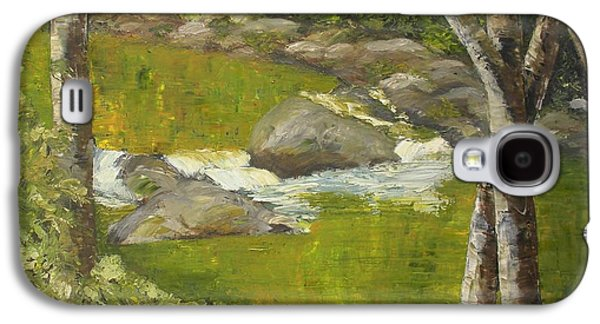 Smokey Mountains Paintings Galaxy S4 Cases - Sounds Of The Small Waterfall Galaxy S4 Case by Ralph Loffredo