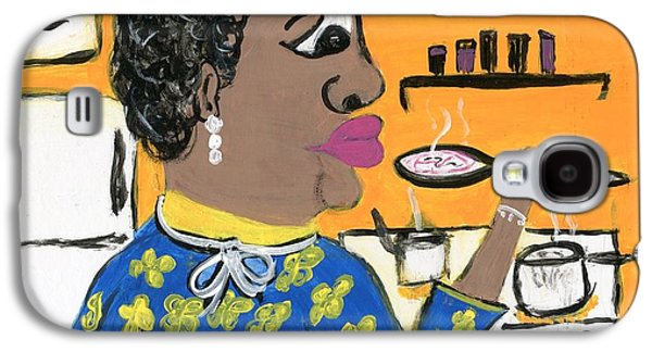 African-american Drawings Galaxy S4 Cases - Soup Coolers Galaxy S4 Case by The Robert Blount Collection