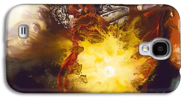 Goddess Paintings Galaxy S4 Cases - Source of Strength Galaxy S4 Case by Karina Llergo Salto
