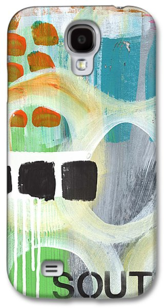 Colorful Abstract Galaxy S4 Cases - South- abstract expressionist art Galaxy S4 Case by Linda Woods