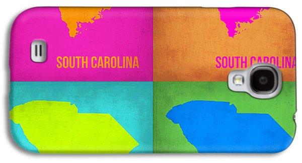 Decoration Galaxy S4 Cases - South Carolina Pop Art Map 1 Galaxy S4 Case by Naxart Studio