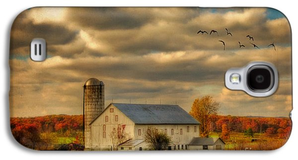 Geese Digital Art Galaxy S4 Cases - South For The Winter Galaxy S4 Case by Lois Bryan