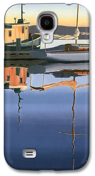 British Paintings Galaxy S4 Cases - South harbour reflections Galaxy S4 Case by Gary Giacomelli