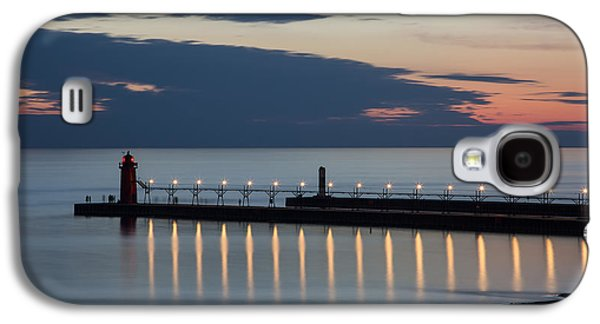 Ocean Panorama Galaxy S4 Cases - South Haven Michigan Lighthouse Galaxy S4 Case by Adam Romanowicz