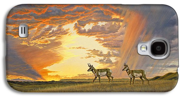 Wyoming Paintings Galaxy S4 Cases - South of Lander Galaxy S4 Case by Paul Krapf