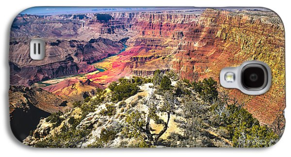 Haybales Galaxy S4 Cases - South Rim From The Butte Galaxy S4 Case by Robert Bales