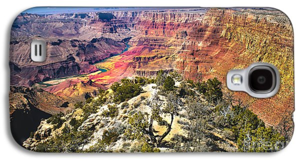 Haybale Photographs Galaxy S4 Cases - South Rim From The Butte Galaxy S4 Case by Robert Bales