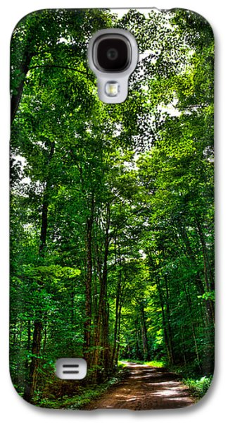Old Country Roads Photographs Galaxy S4 Cases - South Rondaxe Road - Old Forge Galaxy S4 Case by David Patterson