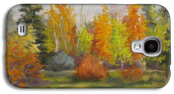 Maple Season Paintings Galaxy S4 Cases - South Sask. Dr. Park Galaxy S4 Case by Mohamed Hirji